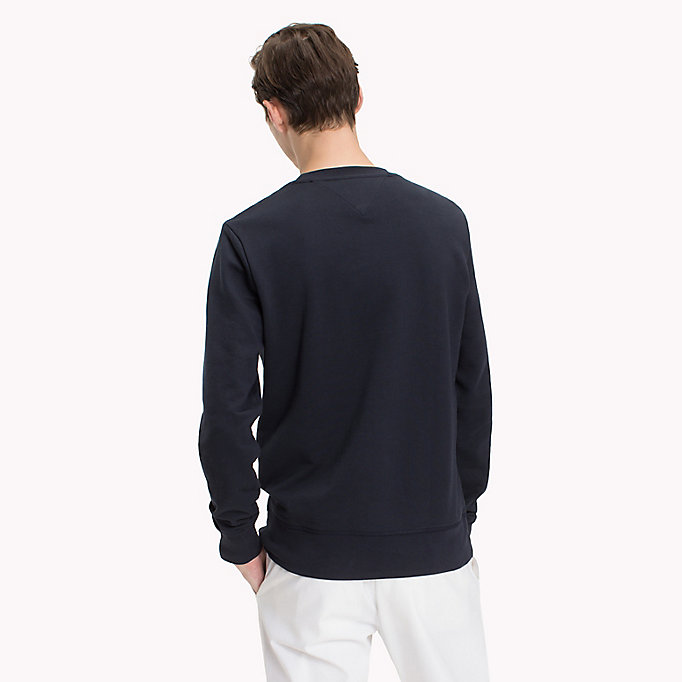 TOMMY HILFIGER Iconic Tommy Sweatshirt - CLOUD HTR - TOMMY HILFIGER Men - detail image 1