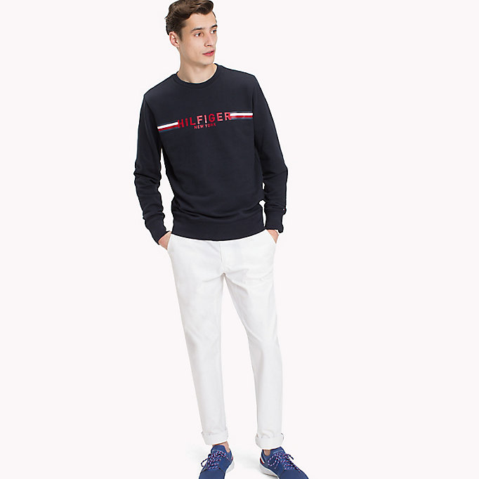 TOMMY HILFIGER Iconic Tommy Sweatshirt - CLOUD HTR - TOMMY HILFIGER Men - main image