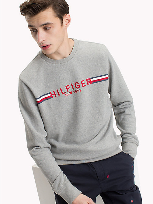 TOMMY HILFIGER Iconic Tommy Sweatshirt - CLOUD HTR - TOMMY HILFIGER Clothing - main image