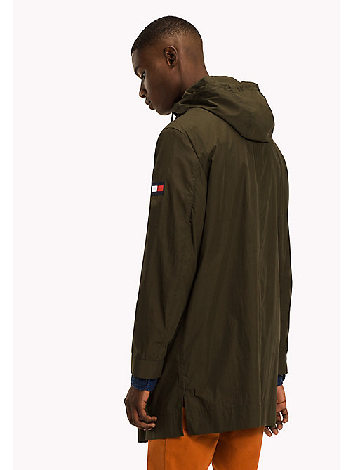 TOMMY HILFIGER Longline Hooded Cotton Parka - FOUR LEAF CLOVER - TOMMY HILFIGER Clothing - detail image 1