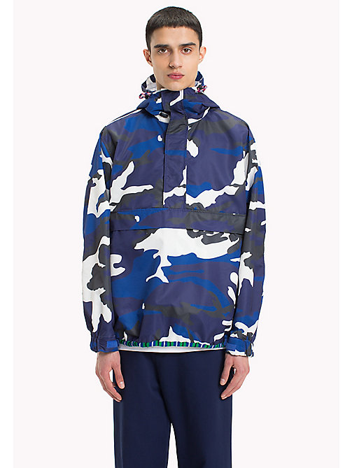 HILFIGER COLLECTION Camouflage Anorak - CAMO PRINT NAVY - HILFIGER COLLECTION Hilfiger Collection - main image