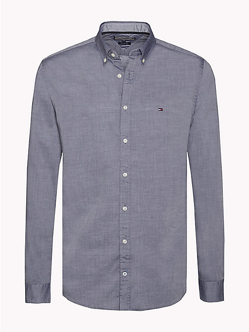 TOMMY HILFIGER Dobby Cotton Regular Fit Shirt - MARITIME BLUE - TOMMY HILFIGER Casual Shirts - main image