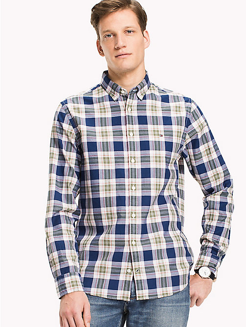 TOMMY HILFIGER Big & Tall Regular Fit Checked Shirt - ESTATE BLUE / MULTI - TOMMY HILFIGER Big & Tall - detail image 1