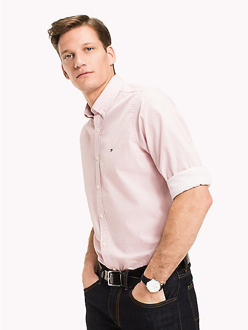 TOMMY HILFIGER Big & Tall Regular Fit Checked Shirt - DUSTY ROSE / BRIGHT WHITE - TOMMY HILFIGER Big & Tall - main image