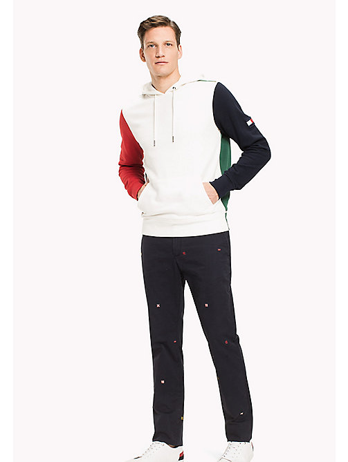 TOMMY HILFIGER Signature Colourblock Hoodie - SNOW WHITE / BARBADOS CHERRY / NAVY BLAZ - TOMMY HILFIGER Hoodies - main image