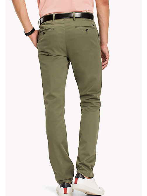 TOMMY HILFIGER Big & Tall Relaxed Fit Chinos - FOUR LEAF CLOVER - TOMMY HILFIGER Big & Tall - detail image 1