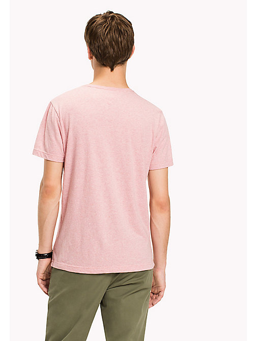 TOMMY HILFIGER Big & Tall T-shirt regular fit avec logo - ROSE TAN HEATHER - TOMMY HILFIGER Grandes Tailles - image détaillée 1