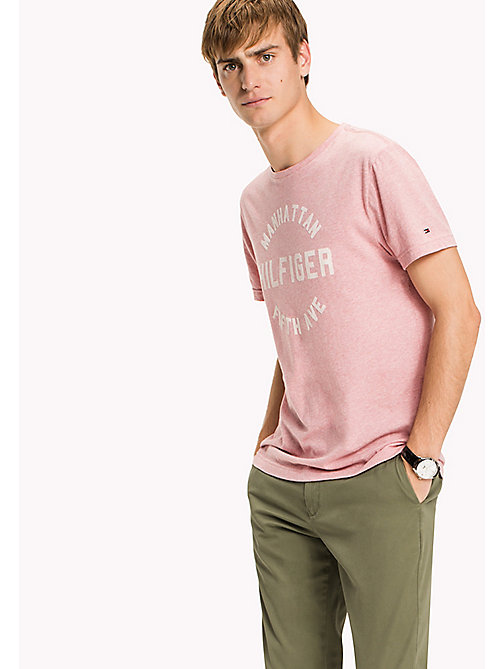 TOMMY HILFIGER Big & Tall Regular Fit Logo Print T-Shirt - ROSE TAN HEATHER - TOMMY HILFIGER Big & Tall - main image