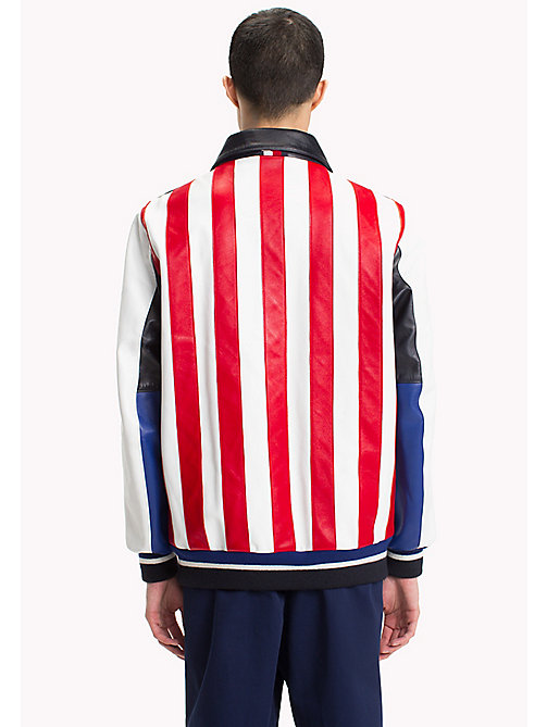 HILFIGER COLLECTION Bomber in pelle stile college - SKY CAPTAIN - HILFIGER COLLECTION Hilfiger Collection - dettaglio immagine 1