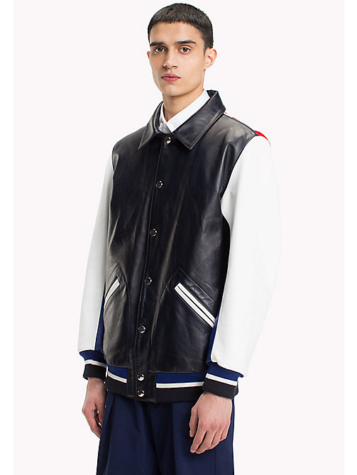 HILFIGER COLLECTION Bomber in pelle stile college - SKY CAPTAIN - HILFIGER COLLECTION HILFIGER COLLECTION - immagine principale