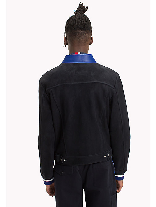 HILFIGER COLLECTION Contrast Collar Suede Jacket - SKY CAPTAIN - HILFIGER COLLECTION HILFIGER COLLECTION - detail image 1