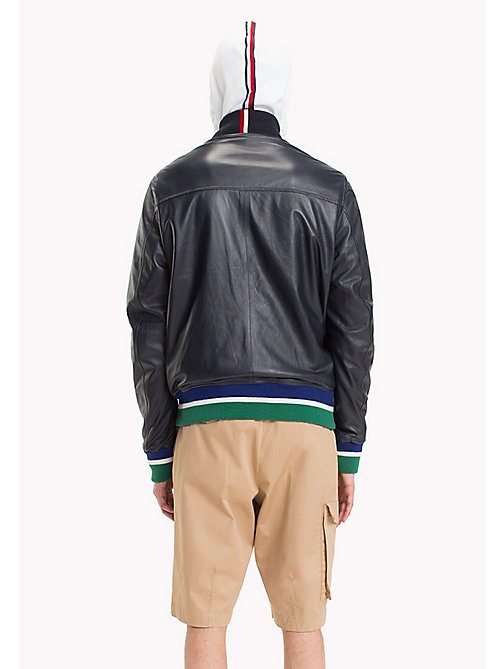 HILFIGER COLLECTION Reversible Leather Flight Jacket - SKY CAPTAIN - HILFIGER COLLECTION HILFIGER COLLECTION - detail image 1