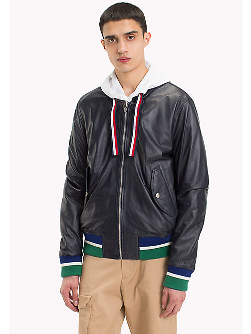 HILFIGER COLLECTION Reversible Leather Flight Jacket - SKY CAPTAIN - HILFIGER COLLECTION HILFIGER COLLECTION - main image