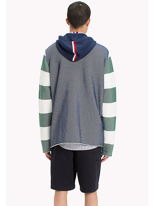 HILFIGER COLLECTION Contrast Stripe Knitted Hoodie - SURF THE WEB -  Hilfiger Collection - detail image 1