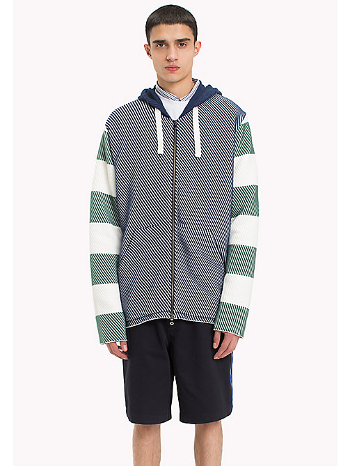 HILFIGER COLLECTION Contrast Stripe Knitted Hoodie - SURF THE WEB -  Hilfiger Collection - main image