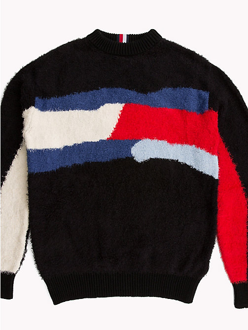 HILFIGER COLLECTION Color Block Flag Sweater - SKY CAPTAIN - HILFIGER COLLECTION Hilfiger Collection - main image