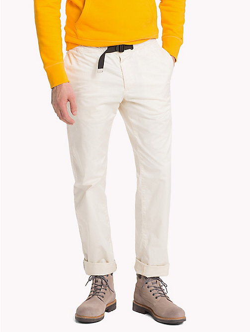 TOMMY HILFIGER D-Ring Buckle Chinos - OYSTER GRAY - TOMMY HILFIGER NEW IN - main image