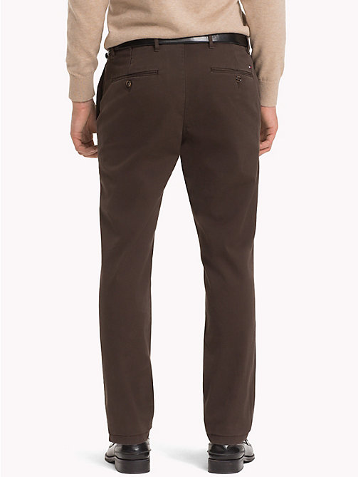 TOMMY HILFIGER Stretch Cotton Slim Fit Chinos - DELICIOSO - TOMMY HILFIGER Chinos - detail image 1
