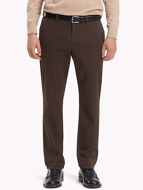 TOMMY HILFIGER Stretch Cotton Slim Fit Chinos - DELICIOSO - TOMMY HILFIGER Trousers & Shorts - main image