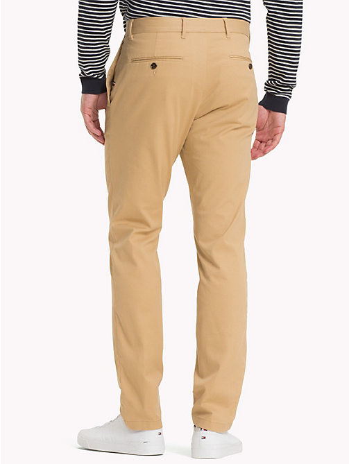 TOMMY HILFIGER Stretch Cotton Slim Fit Chinos - STARFISH - TOMMY HILFIGER Chinos - detail image 1
