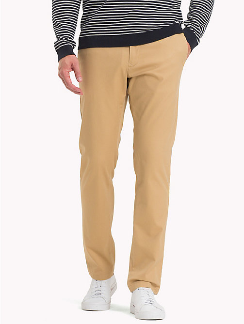 TOMMY HILFIGER Stretch Cotton Slim Fit Chinos - STARFISH - TOMMY HILFIGER Trousers & Shorts - main image
