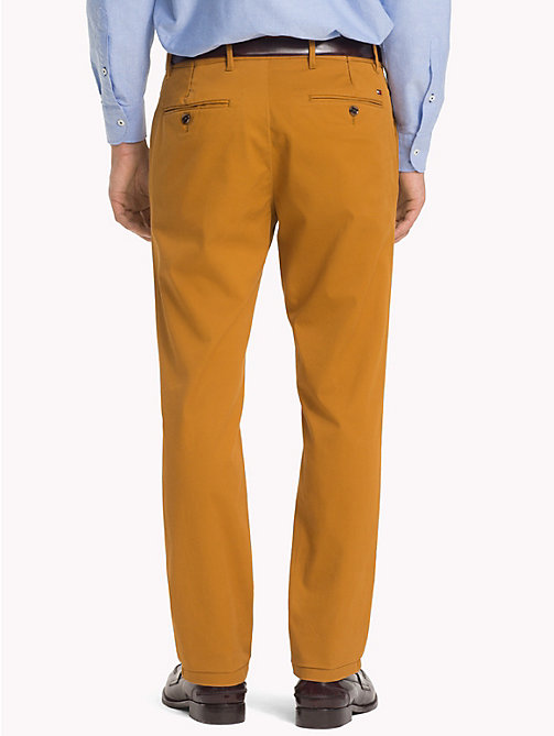 TOMMY HILFIGER Stretch Cotton Slim Fit Chinos - GOLDEN BROWN - TOMMY HILFIGER Chinos - detail image 1