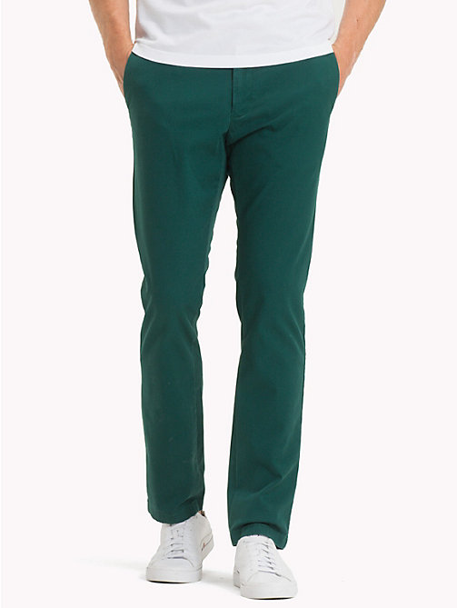 TOMMY HILFIGER Stretch Cotton Slim Fit Chinos - RAIN FOREST - TOMMY HILFIGER Chinos - main image