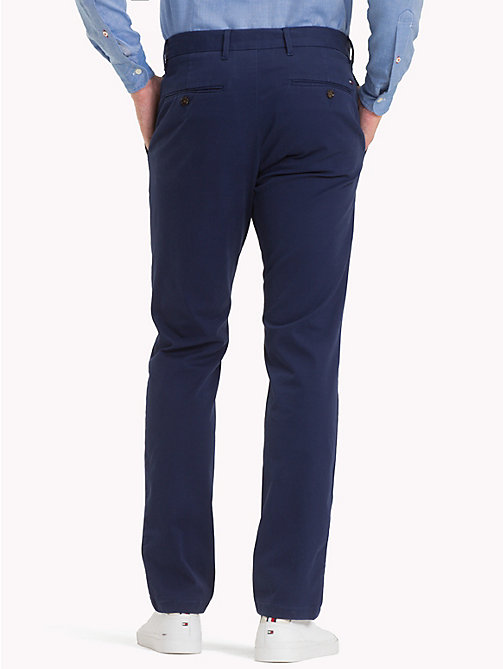 TOMMY HILFIGER Stretch Cotton Slim Fit Chinos - MEDIEVAL BLUE - TOMMY HILFIGER Chinos - detail image 1