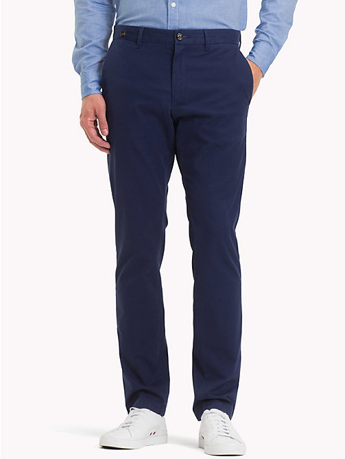 TOMMY HILFIGER Stretch Cotton Slim Fit Chinos - MEDIEVAL BLUE - TOMMY HILFIGER Chinos - main image
