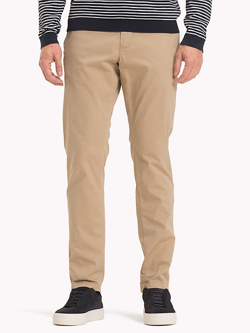 TOMMY HILFIGER Organic Cotton Chinos - BATIQUE KHAKI - TOMMY HILFIGER Trousers & Shorts - main image