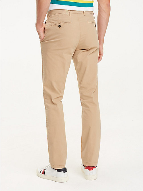 TOMMY HILFIGER Crisp Straight Fit Chinos - BATIQUE KHAKI - TOMMY HILFIGER Clothing - detail image 1
