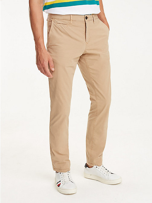 TOMMY HILFIGER Crisp Straight Fit Chinos - BATIQUE KHAKI - TOMMY HILFIGER Clothing - main image