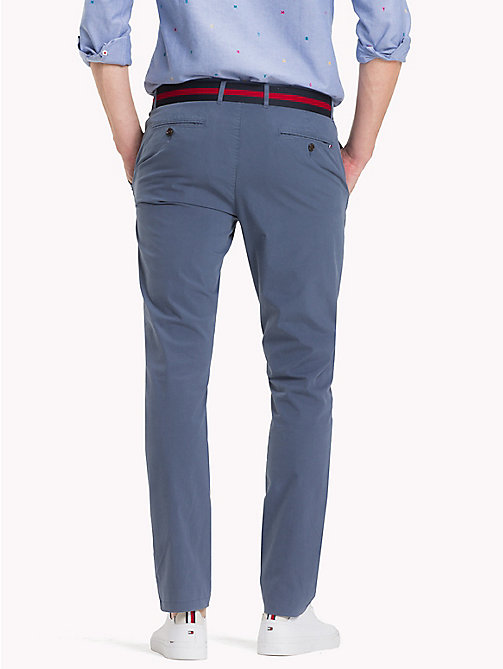 TOMMY HILFIGER Crisp Straight Fit Chinos - VINTAGE INDIGO - TOMMY HILFIGER Clothing - detail image 1