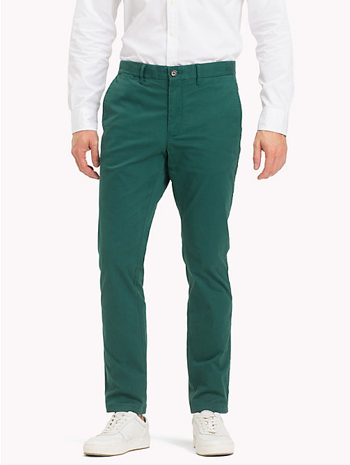 TOMMY HILFIGER Organic Slim Fit Chinos - FOREST BIOME - TOMMY HILFIGER Sustainable Evolution - main image