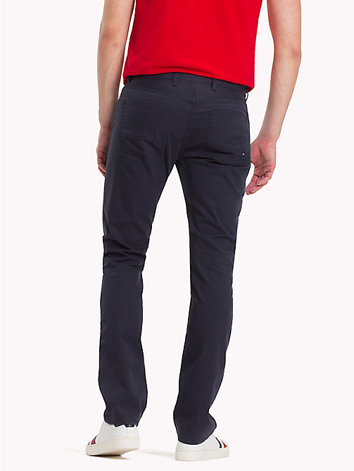 TOMMY HILFIGER Pima Cotton Twill Trousers - SKY CAPTAIN - TOMMY HILFIGER Clothing - detail image 1