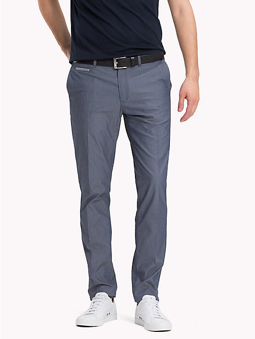 TOMMY HILFIGER Stretch Slim Fit Chinos - VINTAGE INDIGO - TOMMY HILFIGER Trousers & Shorts - main image