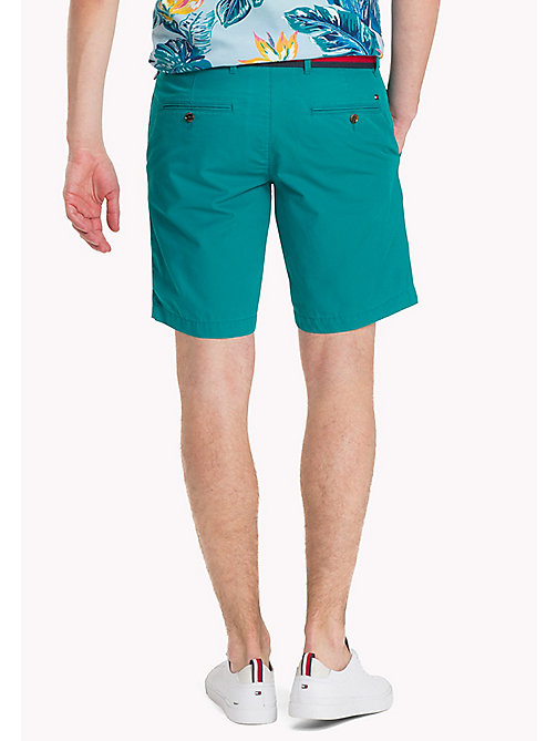 TOMMY HILFIGER Belted Cotton Twill Shorts - FANFARE - TOMMY HILFIGER NEW IN - detail image 1