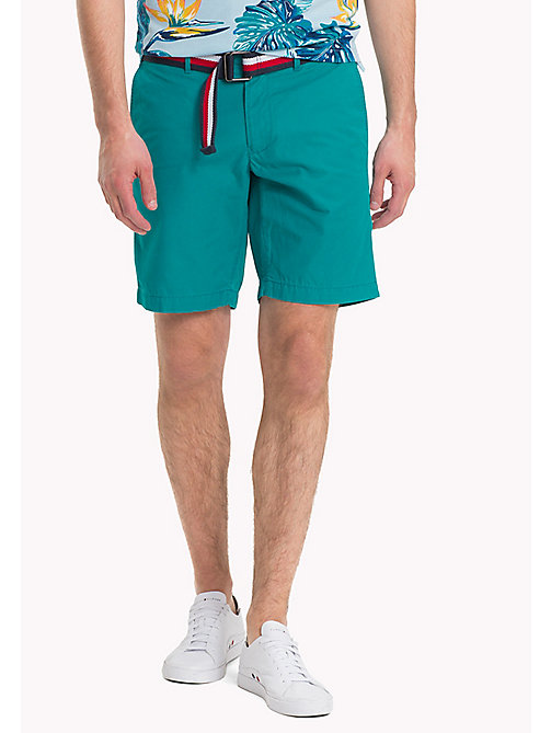 TOMMY HILFIGER Belted Cotton Twill Shorts - FANFARE - TOMMY HILFIGER NEW IN - main image