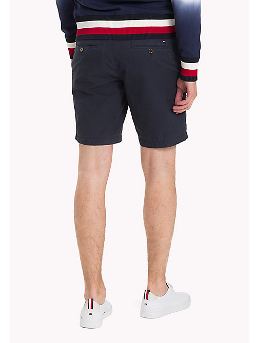 TOMMY HILFIGER Belted Cotton Twill Shorts - SKY CAPTAIN - TOMMY HILFIGER Clothing - detail image 1
