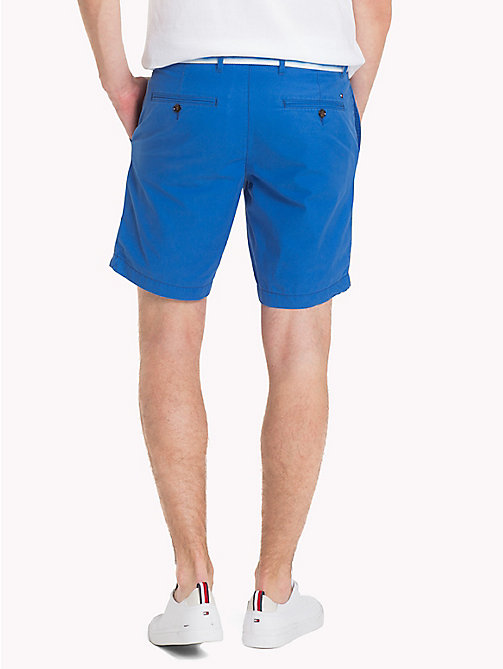 TOMMY HILFIGER Belted Cotton Twill Shorts - STRONG BLUE - TOMMY HILFIGER Shorts - detail image 1