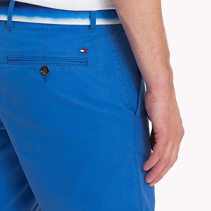 TOMMY HILFIGER Belted Cotton Twill Shorts - FREESIA - TOMMY HILFIGER Men - detail image 3