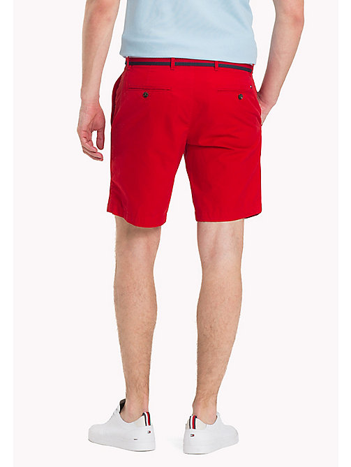 TOMMY HILFIGER Belted Cotton Twill Shorts - GOJI BERRY - TOMMY HILFIGER Shorts - detail image 1