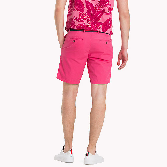 TOMMY HILFIGER Belted Cotton Twill Shorts - SNOW WHITE - TOMMY HILFIGER Men - detail image 1