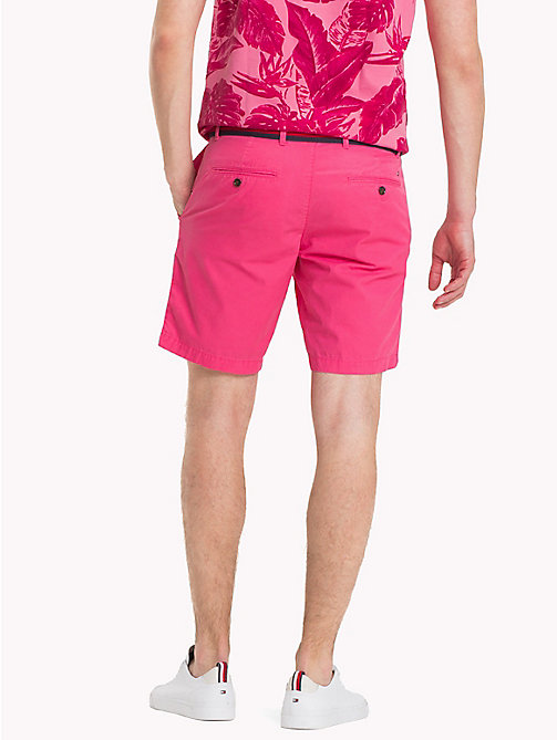 TOMMY HILFIGER Belted Cotton Twill Shorts - PINK LEMONADE - TOMMY HILFIGER Shorts - detail image 1