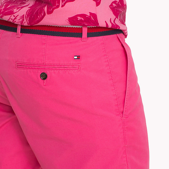 TOMMY HILFIGER Belted Cotton Twill Shorts - SNOW WHITE - TOMMY HILFIGER Men - detail image 3