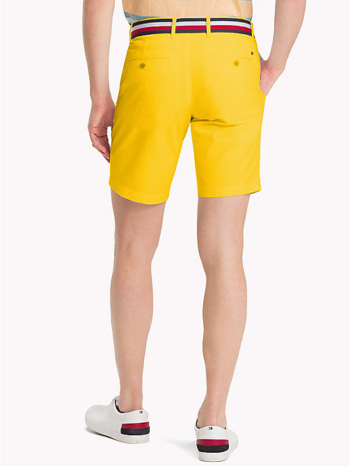 TOMMY HILFIGER Belted Cotton Twill Shorts - FREESIA - TOMMY HILFIGER Clothing - detail image 1