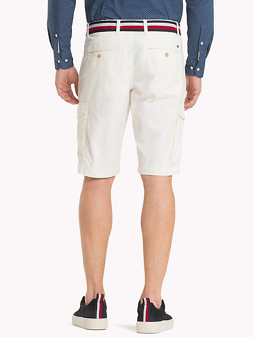 TOMMY HILFIGER Signature Belt Cargo Shorts - SNOW WHITE - TOMMY HILFIGER Shorts - detail image 1