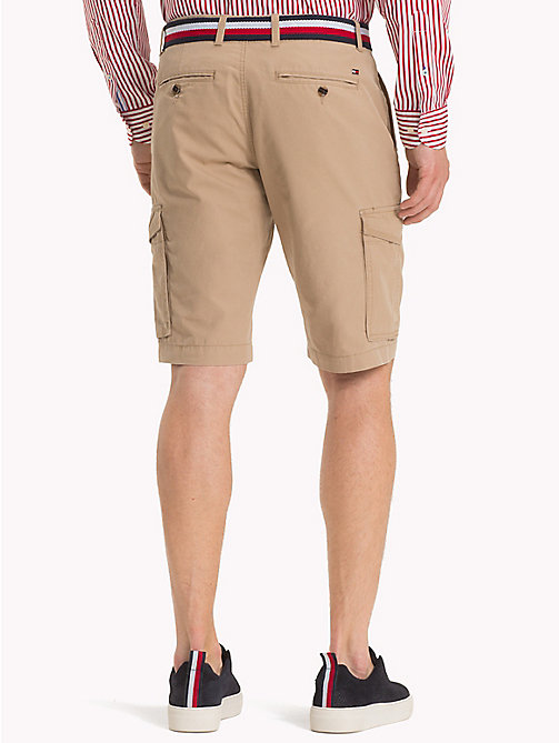 TOMMY HILFIGER Signature Belt Cargo Shorts - BATIQUE KHAKI - TOMMY HILFIGER Shorts - detail image 1