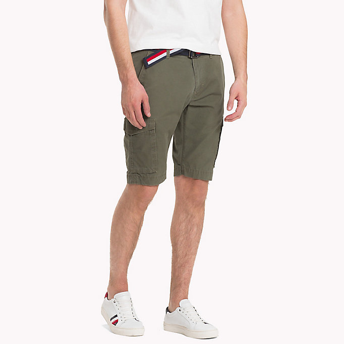 TOMMY HILFIGER Signature Belt Cargo Shorts - SKY CAPTAIN - TOMMY HILFIGER Men - main image