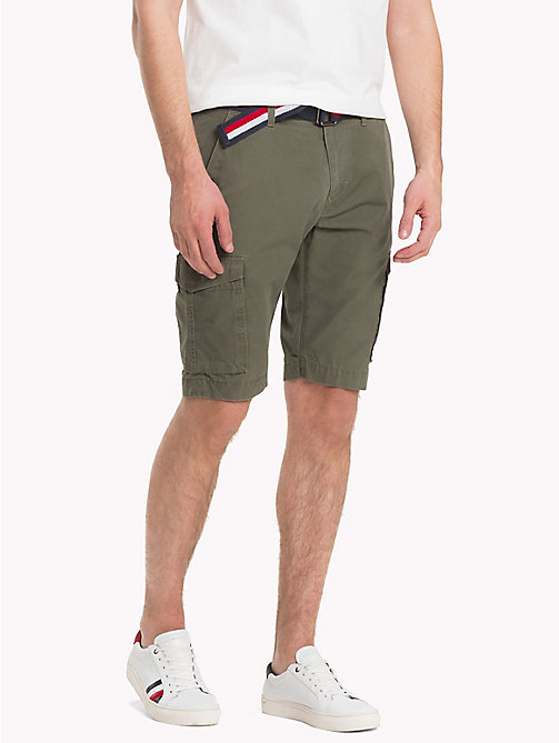 TOMMY HILFIGER Signature Belt Cargo Shorts - GRAPE LEAF - TOMMY HILFIGER Vacation Style - main image